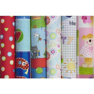 clairefontaine 211496c rouleau de papier cadeau enfants 65 g m 2m x 0 70m motifs divers. Black Bedroom Furniture Sets. Home Design Ideas